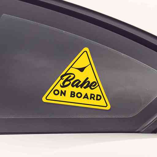 Babe on Board is a must-have sticker for cars or trucks with ladies on board.