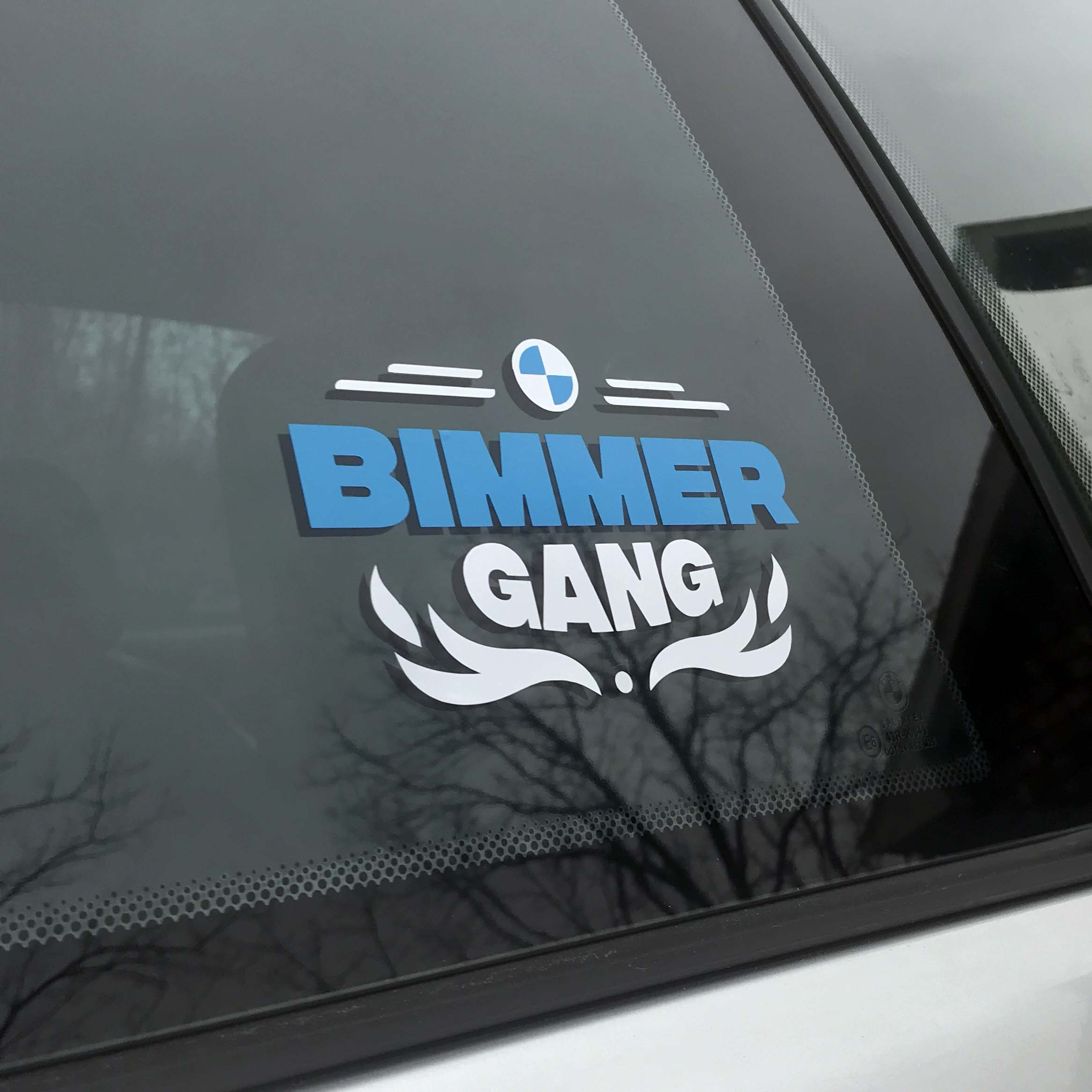 Bimmer Gang vinyl sticker for every BMW car vehicle