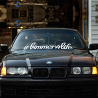 #bimmer4life windshield sticker