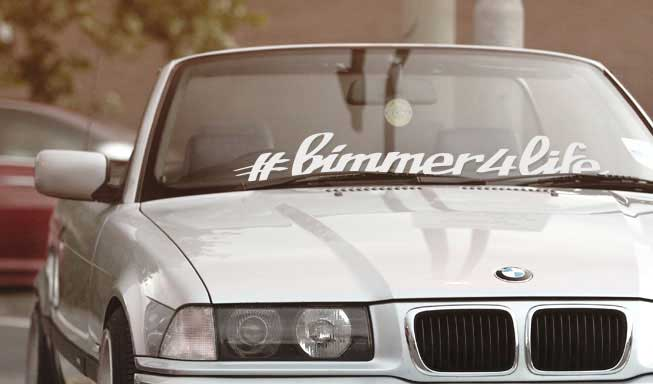 BMW vinyl windshield banner sticker