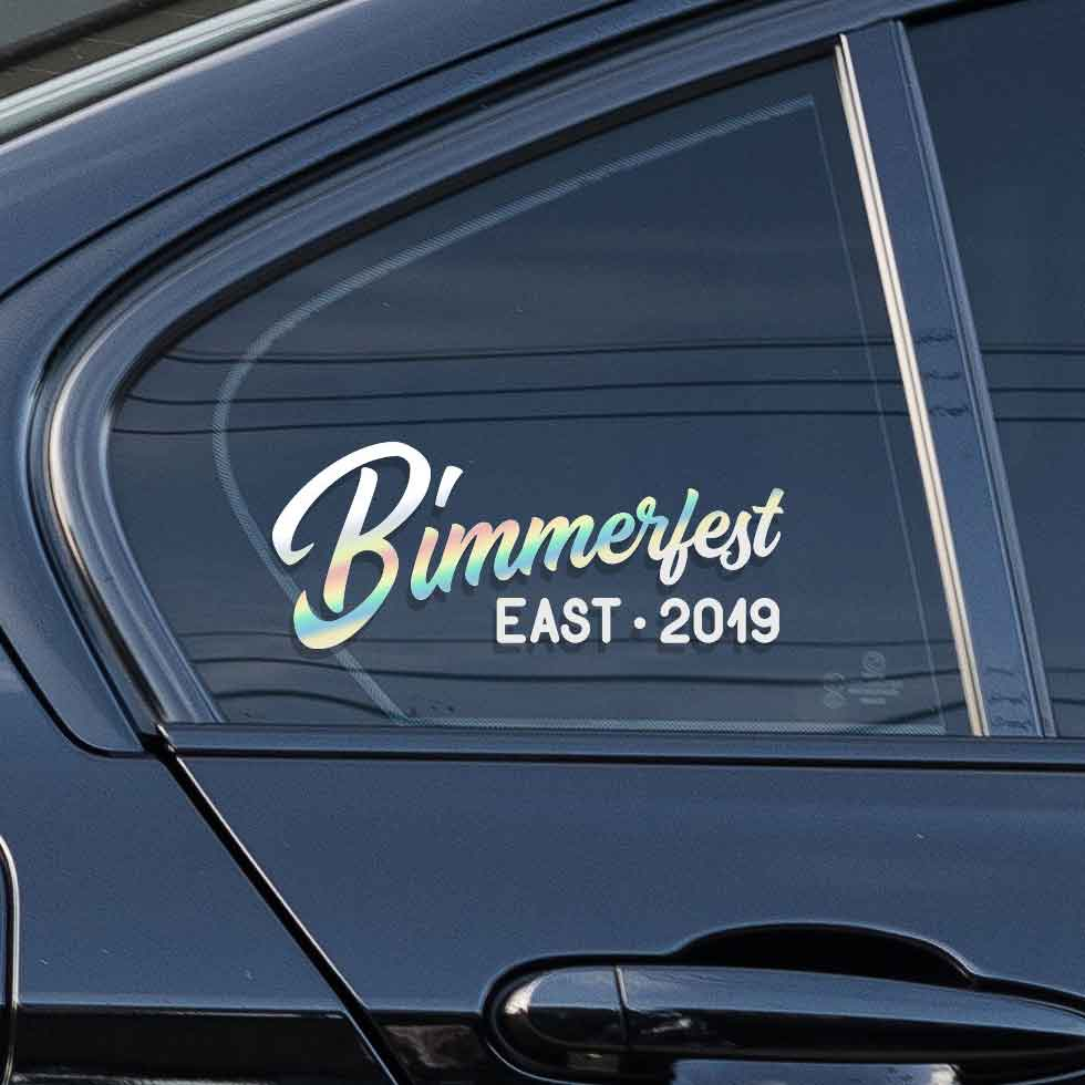 Special sticker for the Bimmerfest event. East or west. Pick one that works for you.