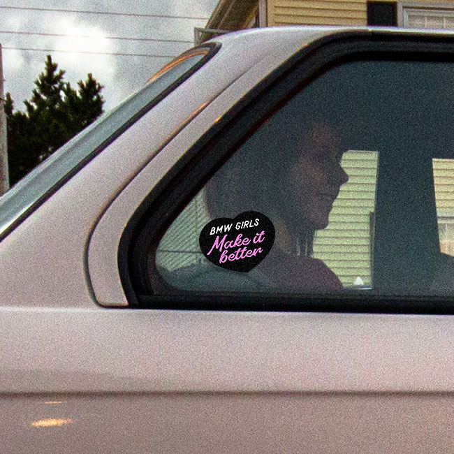 Vinyl sticker BMW girls make it better inverted