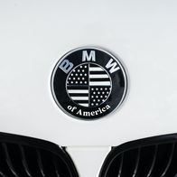 American Flag overlay sticker for BMW emblem
