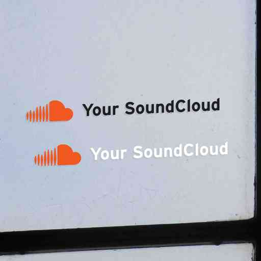 A set of two custom stickers with your SoundCloud profile name. Stickers are contour cut out of premium outdoor vinyls. Transparent background. Available in white and black colors. Installation instructions are provided.