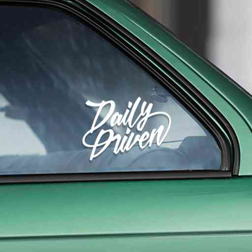 Daily Driven sticker for cars that are driven every day. Will look awesome on jdm, stanced (lowered) and drift cars. Available in different colors.