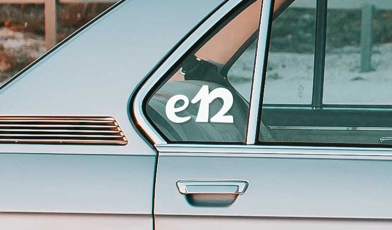 BMW e12 vinyl sticker