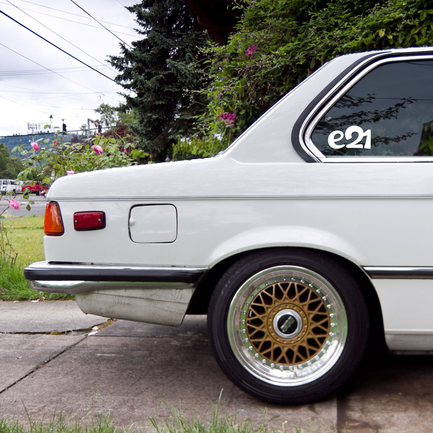 Vinyl e21 sticker for BMW cars
