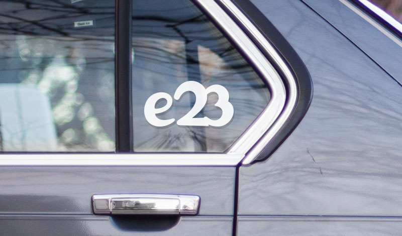 BMW e23 vinyl sticker