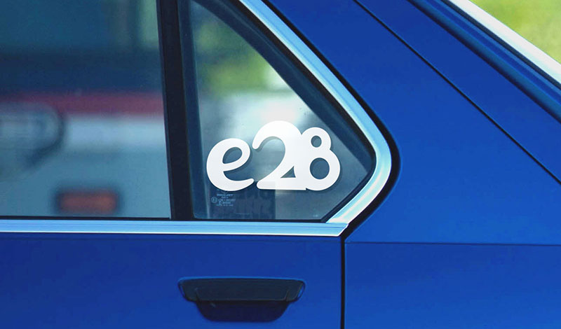 BMW e28 vinyl sticker