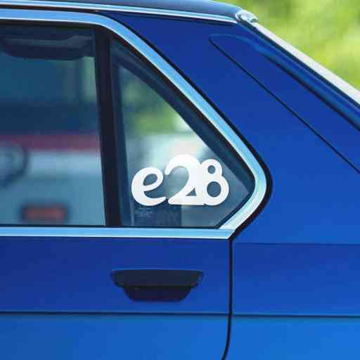 Sticker for BMW e28. Available in different colors. Contour cut from premium outdoor vinyls. Never fades out.