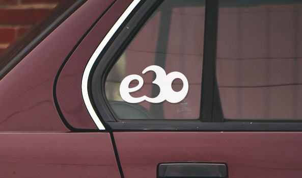 BMW e30 vinyl sticker