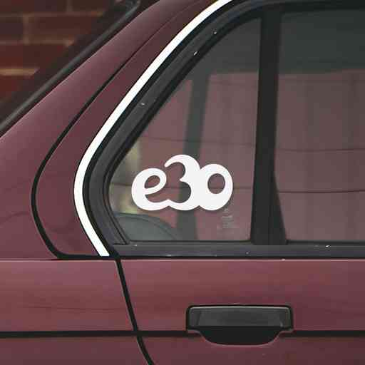 Sticker for BMW e30. Available in different colors. Contour cut from premium outdoor vinyls. Never fades out.