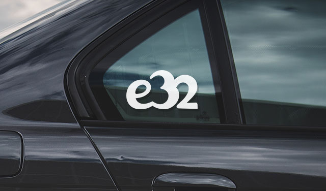 BMW e32 sport vinyl sticker