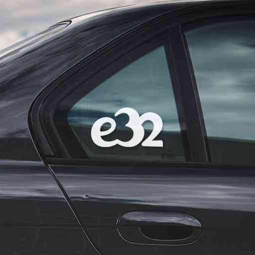Sticker for BMW e32. Available in different colors. Contour cut from premium outdoor vinyls. Never fades out.