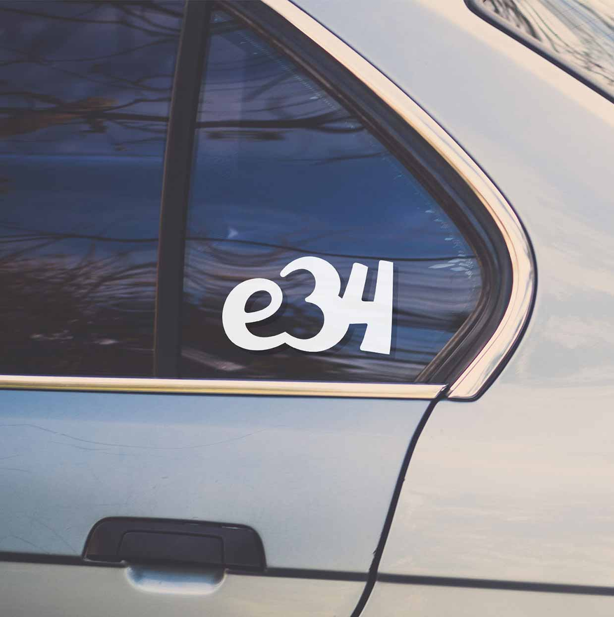 Sticker for BMW e34. Available in different colors. Contour cut from premium outdoor vinyls. Never fades out.