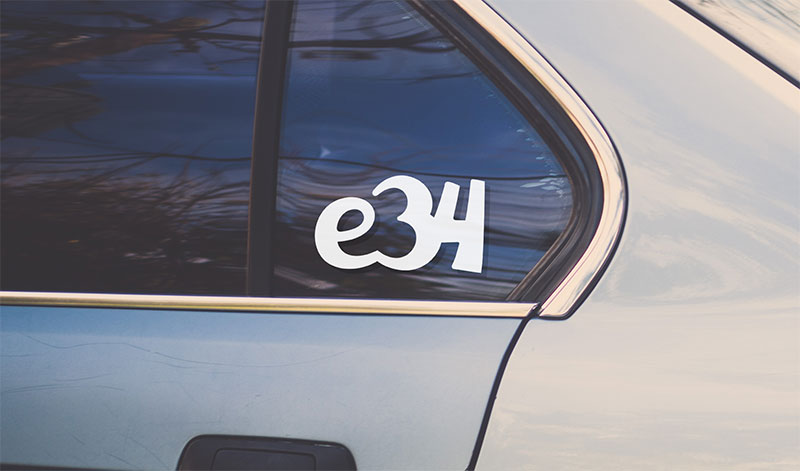 BMW e34 sport vinyl sticker