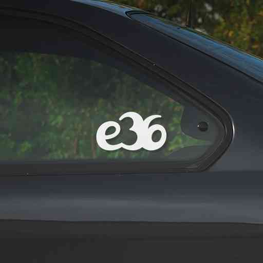 Sticker for BMW e36. Available in different colors. Contour cut from premium outdoor vinyls. Never fades out.