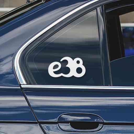 Sticker for BMW e38. Available in different colors. Contour cut from premium outdoor vinyls. Never fades out.
