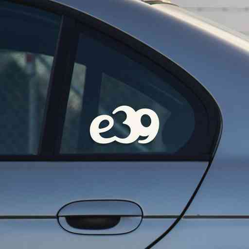 Sticker for BMW e39. Available in different colors. Contour cut from premium outdoor vinyls. Never fades out.