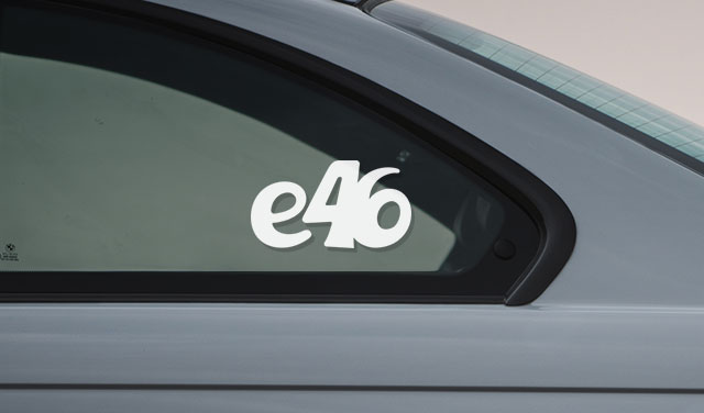 BMW e46 vinyl sport drift stance sticker