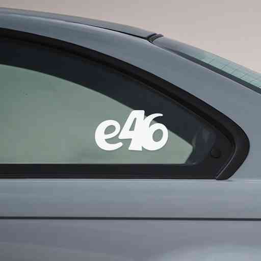 Sticker for BMW e46. Available in different colors. Contour cut from premium outdoor vinyls. Never fades out.