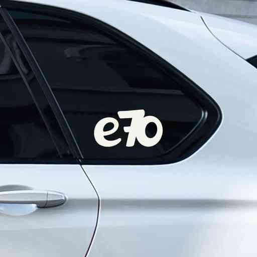 Sticker for BMW e70. Available in different colors. Contour cut from premium outdoor vinyls. Never fades out.