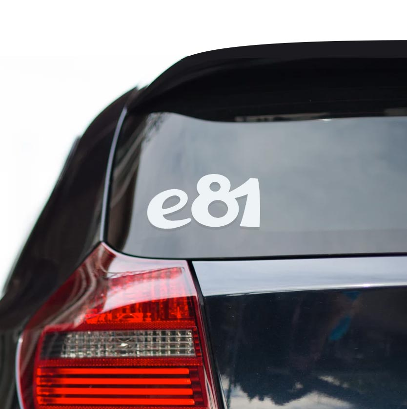 Sticker for BMW e81. Available in different colors. Contour cut from premium outdoor vinyls. Never fades out.