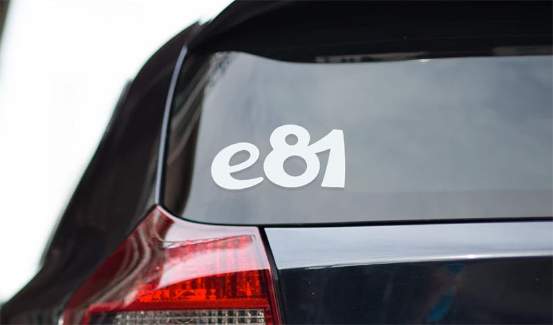 BMW e81 vinyl sport drift stance sticker