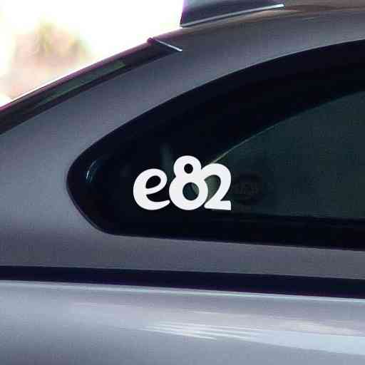 Sticker for BMW e82. Available in different colors. Contour cut from premium outdoor vinyls. Never fades out.