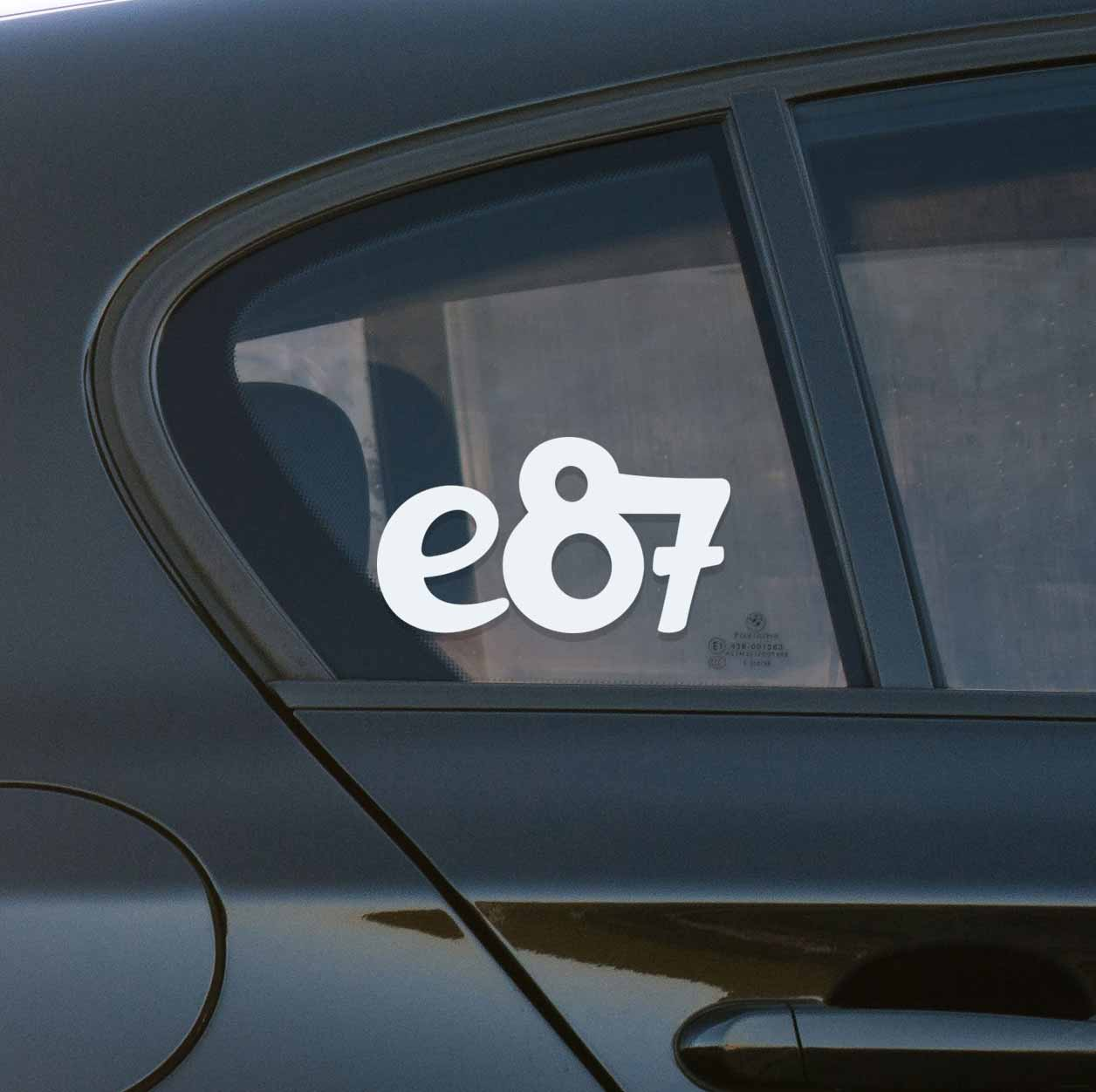 Sticker for BMW e87. Available in different colors. Contour cut from premium outdoor vinyls. Never fades out.