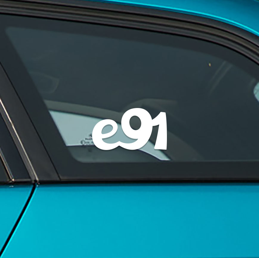 Sticker for BMW e91. Available in different colors. Contour cut from premium outdoor vinyls. Never fades out.