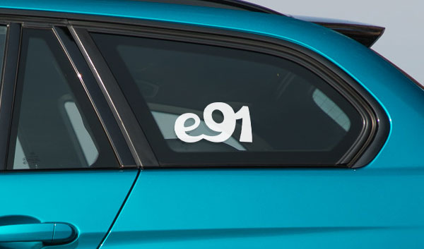 BMW e91 vinyl wagon touring sticker