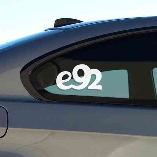 Sticker for BMW e92. Available in different colors. Contour cut from premium outdoor vinyls. Never fades out.
