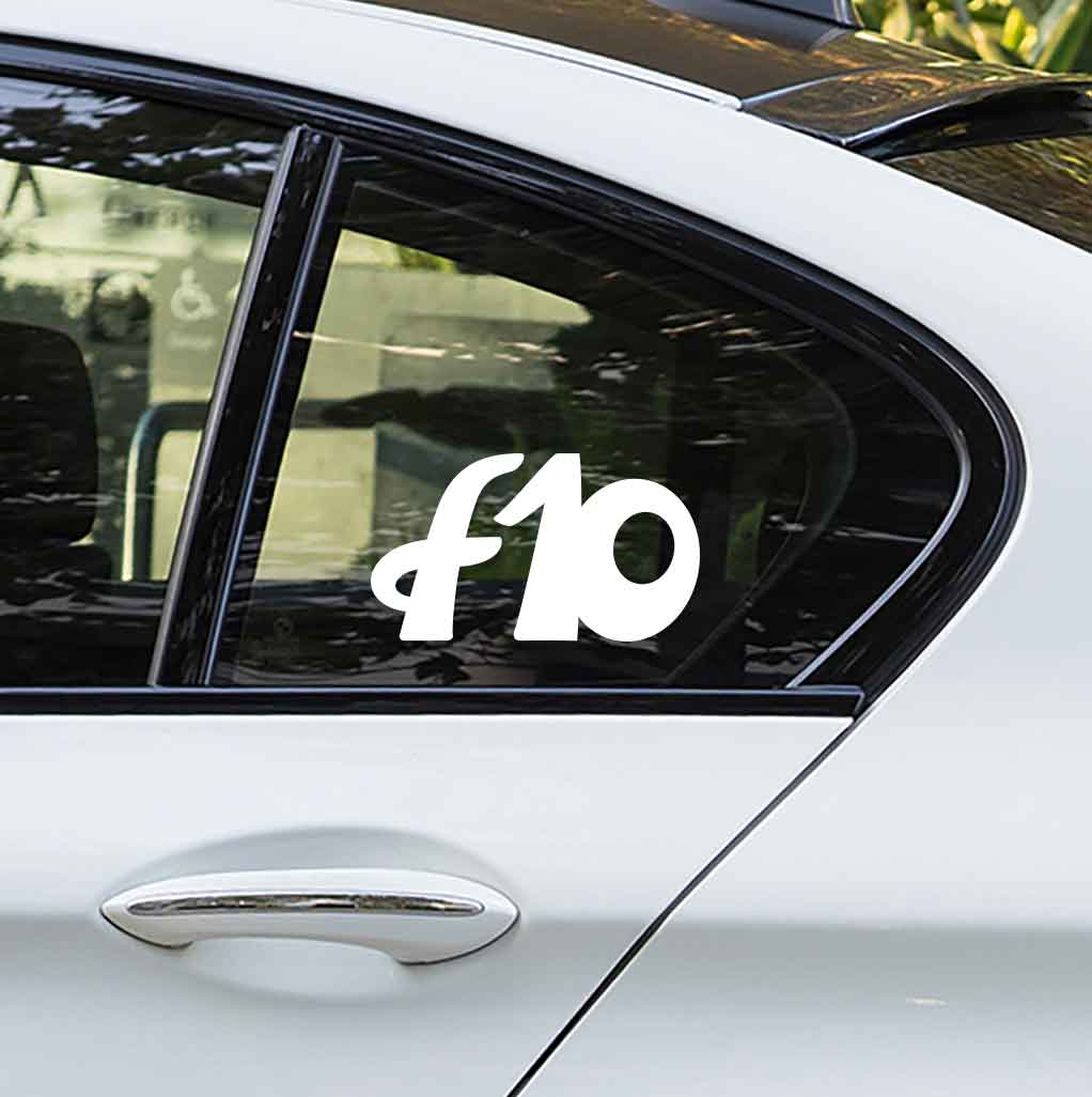 Sticker for BMW f10. Available in different colors. Contour cut from premium outdoor vinyls. Never fades out.