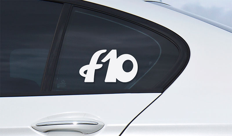 BMW f10 vinyl sport drift stance sticker