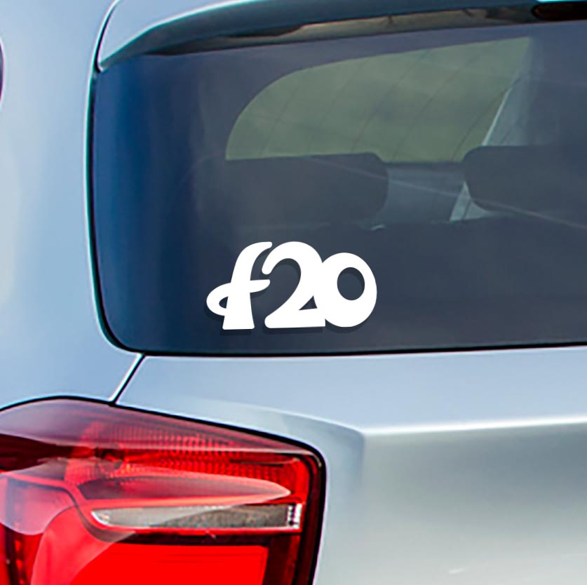 Sticker for BMW f20. Available in different colors. Contour cut from premium outdoor vinyls. Never fades out.