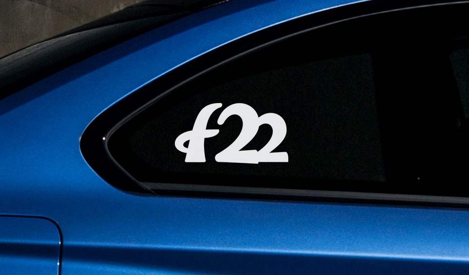 BMW f22 vinyl sticker sport drift stance