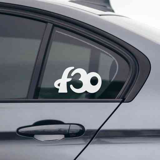 Sticker for BMW f30. Available in different colors. Contour cut from premium outdoor vinyls. Never fades out.