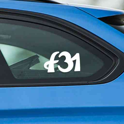Sticker for BMW f31. Available in different colors. Contour cut from premium outdoor vinyls. Never fades out.