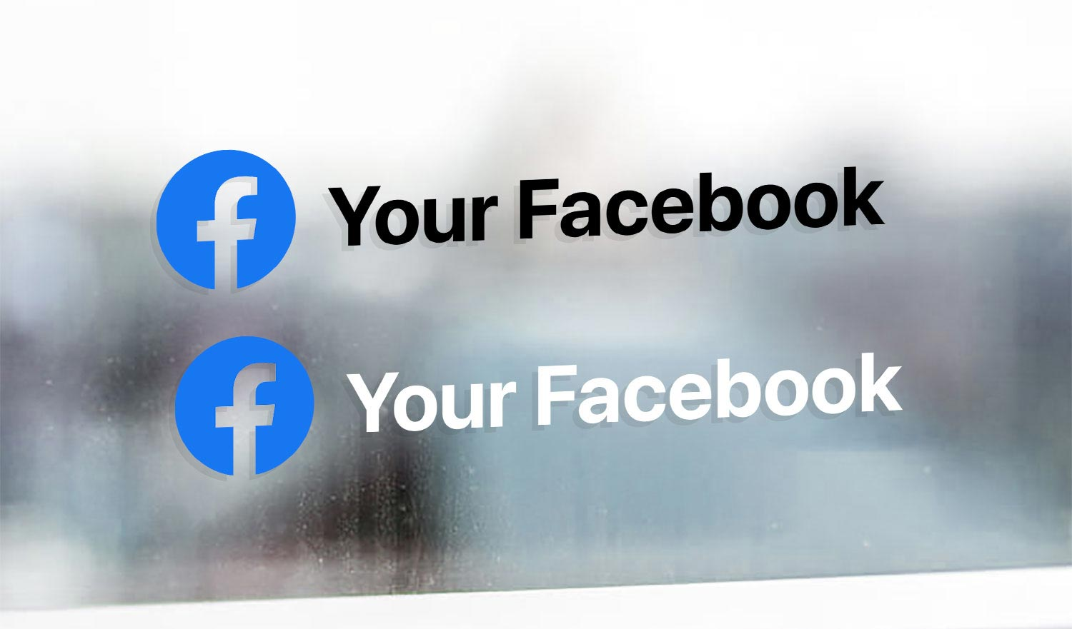 Personal Facebook profile name sticker
