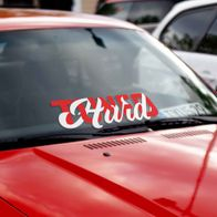 HARD Tuned windshield banner