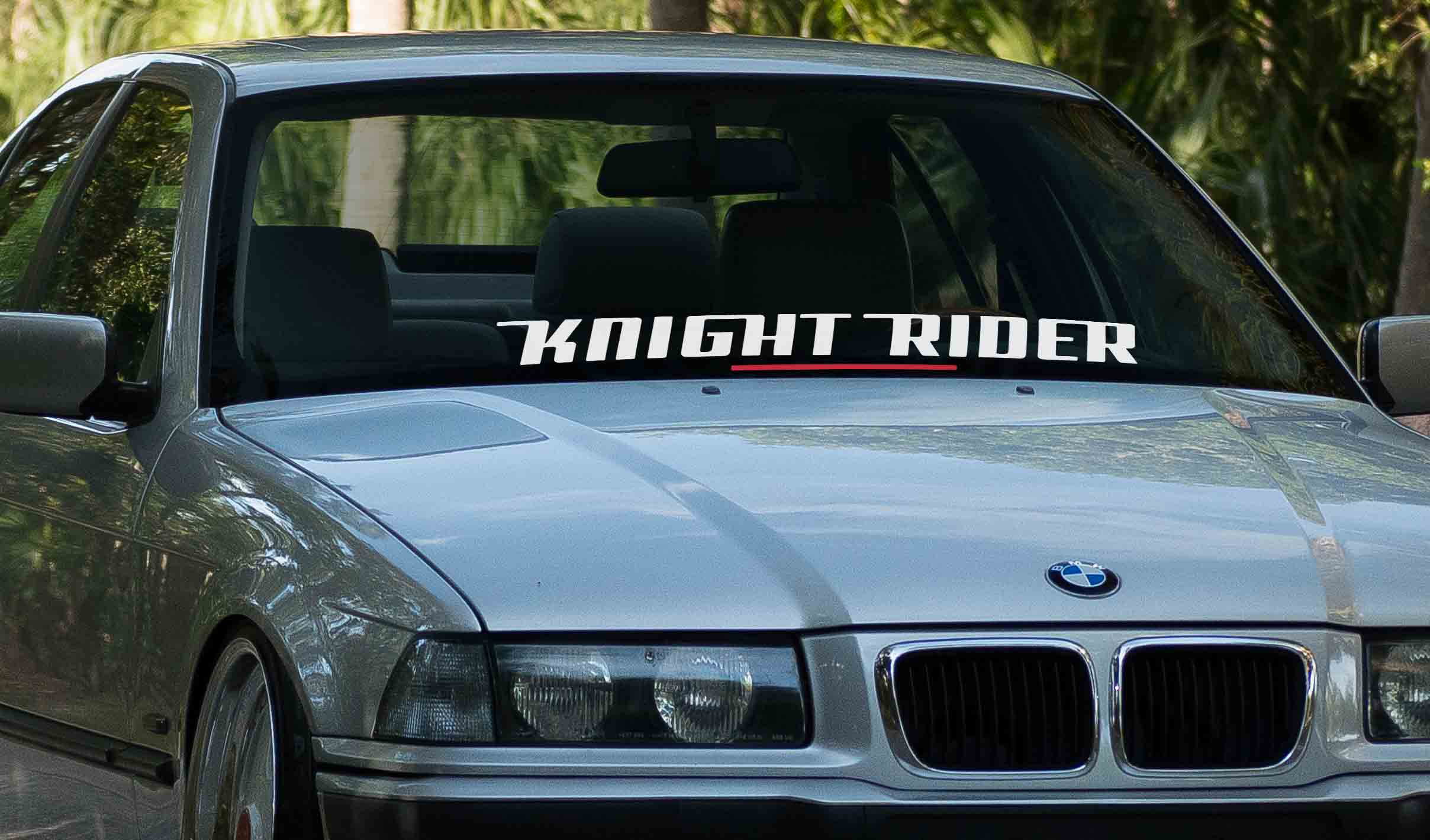Knight Rider car vinyl windshield banner