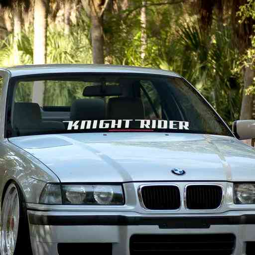 Knight Rider car windshield banner. Great for project or show cars. Available in different colors. Banner comes with installation instructions.