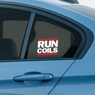 RUN COILS sticker