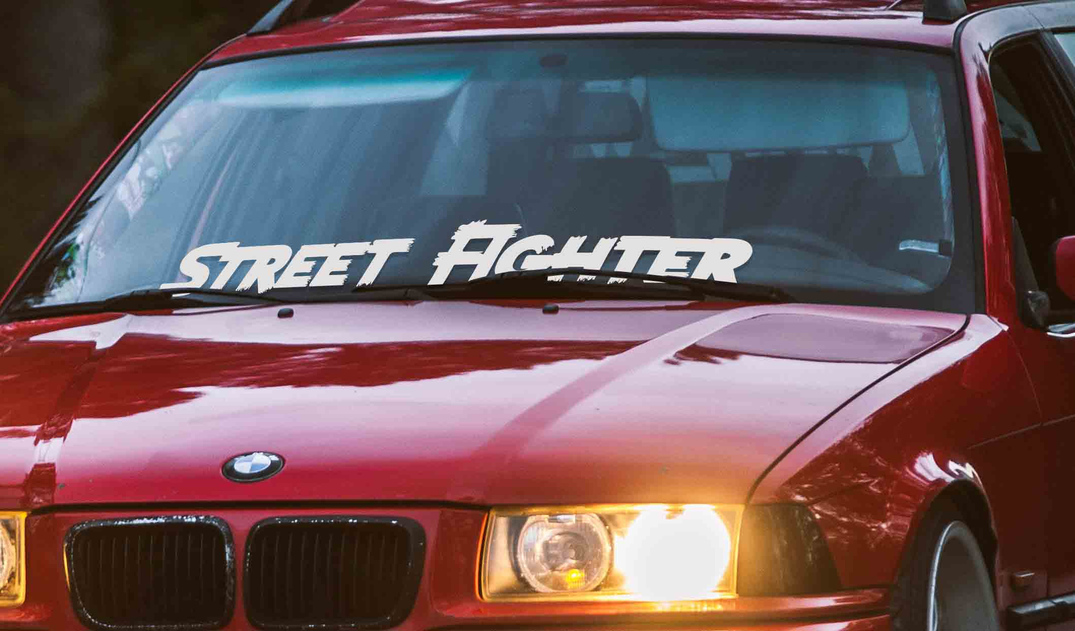 Street Fighter car windshield banner vinyl sticker