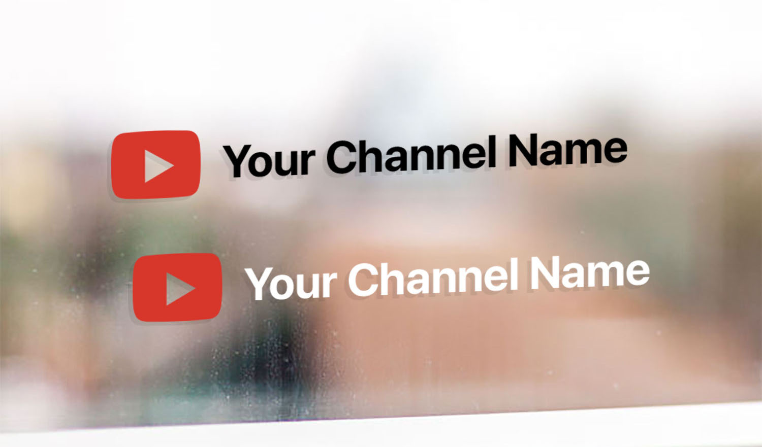 Personal YouTube channel name sticker